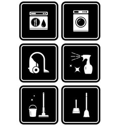 Set of tools for cleaning the house vector