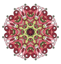 Beautiful deco colored mandala vector