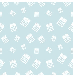 Blue seamless pattern with calendars vector