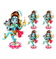 Shiva Isolated vector image
