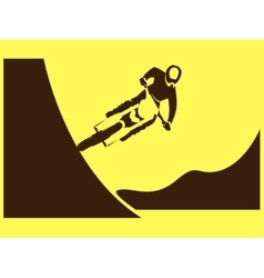 Motorcycle rider freeride vector