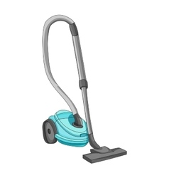 Vacuum cleaner isolated on white background vector image