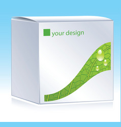 cosmetic package vector image