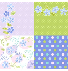 floral fabric texture vector image