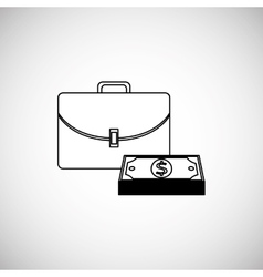 Financial item design money icon flat vector