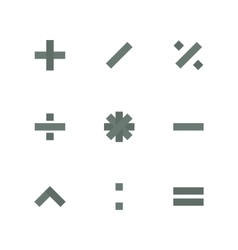 Symbol set of mathematical operations vector
