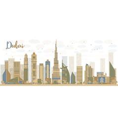 Abstract dubai city skyline vector