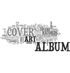 Album cover art part one text word cloud concept vector