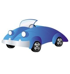 car cartoon retro vector image