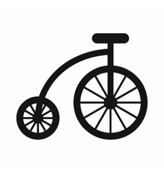 Children bicycle icon simple style vector