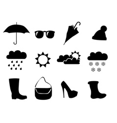 clothes for the weather vector image vector image