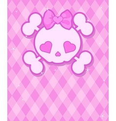 Cute Skull background vector image vector image