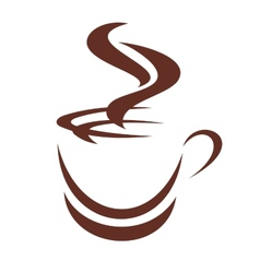 Doodle sketch of a steaming cup of coffee vector image