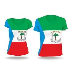 Flag shirt design of equatorial guinea vector