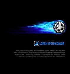 Flaming wheel vector image vector image