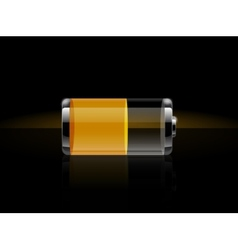 Glossy transparent battery icons vector