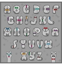 Hipster alphabet vintage font vector