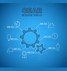 Infographic blueprint report template vector