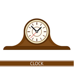mantel clock isolated vector image vector image