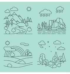 Nature outline landscapes vector image vector image