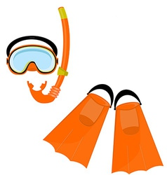 Orange swimming equipment vector