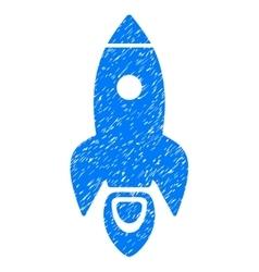 Rocket Grainy Texture Icon vector image vector image