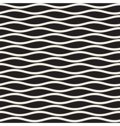 Seamless Black And White Horizontal Wavy vector image vector image