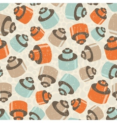 Seamless pattern with details vector image