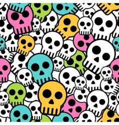Seamless skull background vector image