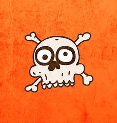 Skull and bones cartoon vector