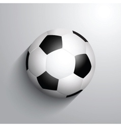 Soccer football on a monochrome background with vector image