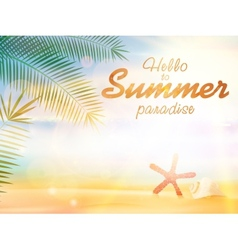 Summer calligraphic designs vector image vector image
