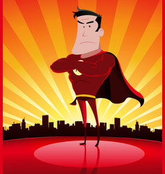 super hero in the city vector image