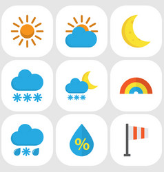 Weather flat icons set collection of snow banner vector