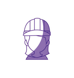 Woman worker faceless vector