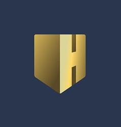Letter h shield logo icon design template elements vector