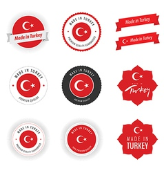 Made in turkey labels badges and stickers vector