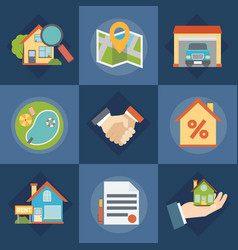 Real estate and realtors icons set vector