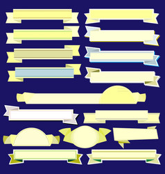 Yellow ribbons and banners vector