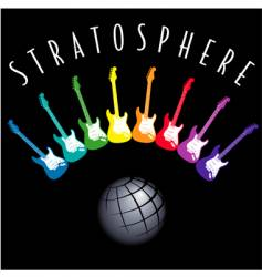 Electric-guitar-stratosphere vector