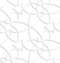 White floristic swirl seamless pattern vector