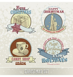 Set of christmas emblems vector