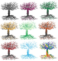 Scraggly Trees Silhouette vector image