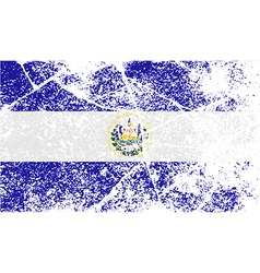 Flag of el salvador with old texture vector