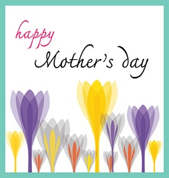 Happy mother day with tulip vector
