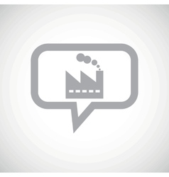 Factory grey message icon vector