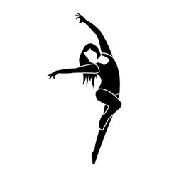 Unique dance simple icon vector