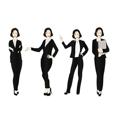 Business woman color full body vector