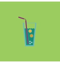 Ice drink with straw vector