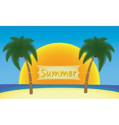 Summer in tropics vector